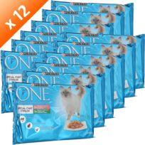Purina One - One Emincés en gelée spécial chat stérilisé - Pour chat adulte - 4x85g x12