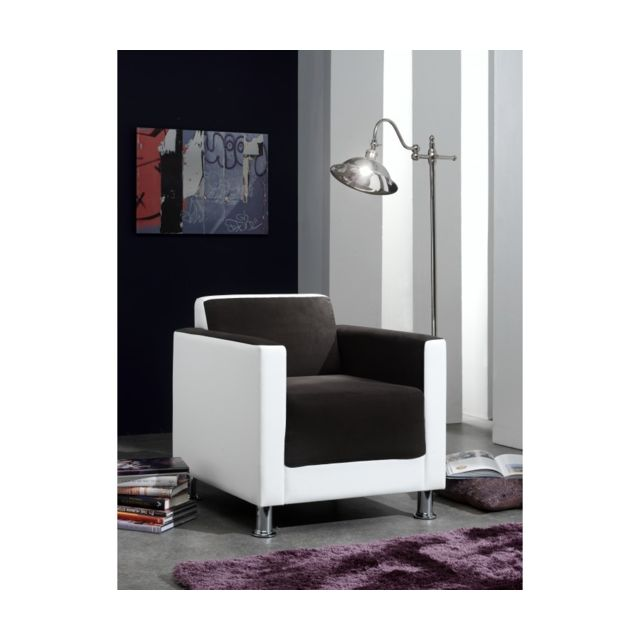Rocambolesk Cube Milano 74 marron fonce pvc blanc