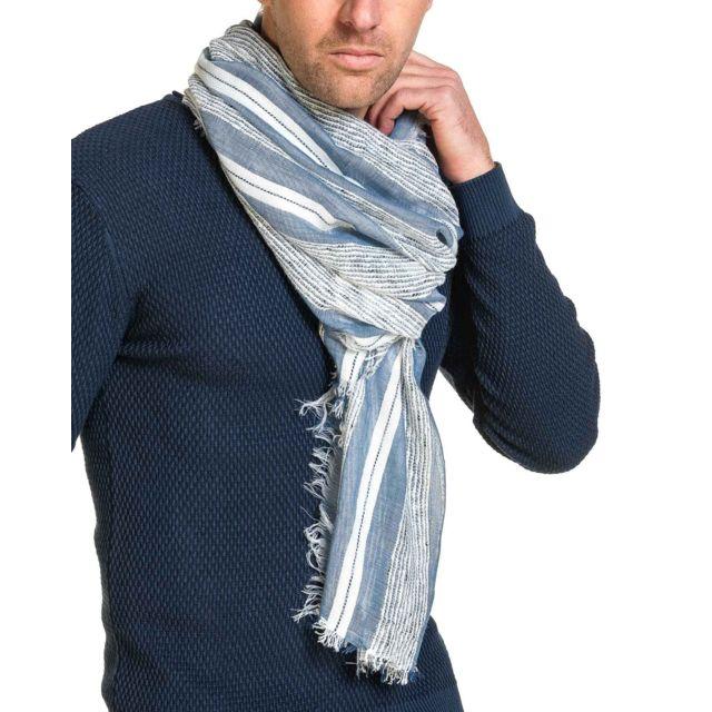 d550dd9b112 Deeluxe - Chèche homme bleu ciel et blanc - pas cher Achat   Vente ...