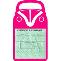 Sar-mlb - Étui simple assurance Cox 1 Volkswagen Rose porte vignette adhésif voiture stickers auto retro
