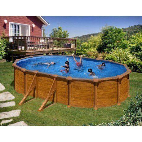 Gre pools kit piscine hors sol maldivas ovale en acier - Piscine hors sol acier pas cher ...