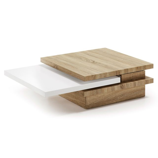 Kavehome Table basse Kiu, bois et Mdf et mélamine
