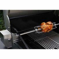 Grandhall - Rotisserie en acier pour barbecue 4 brûleurs longueur 75 cm