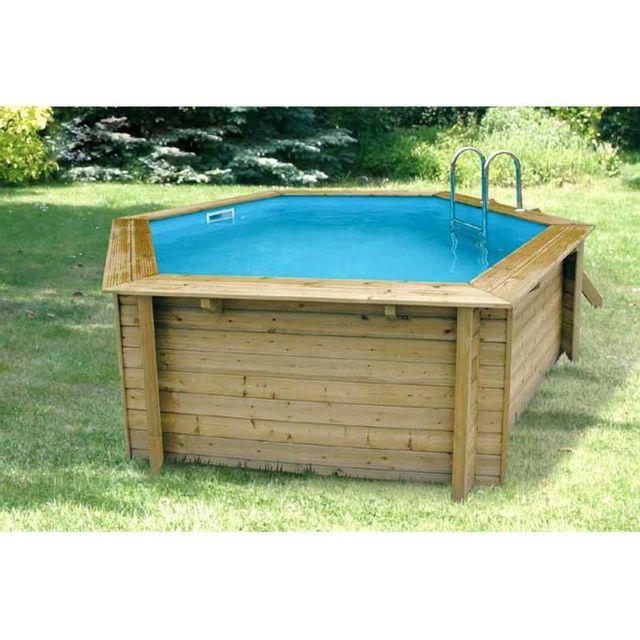 ubbink piscine bois azura 410 h 120cm liner bleu. Black Bedroom Furniture Sets. Home Design Ideas