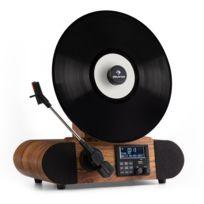 Verticalo Dab Platine Vinyle Retro Dab Tuner Fm Usb Bt Aux Reveil