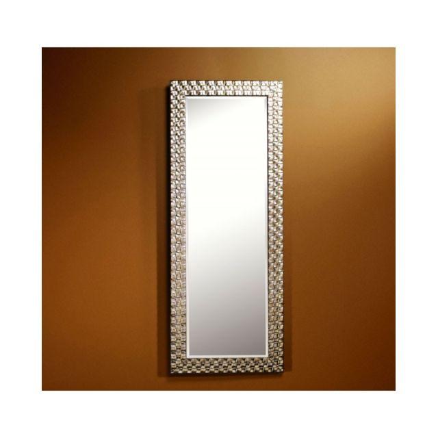 Deknudt Mirrors Miroir Almeria Silver Hall Traditionnel Classique Rectangulaire Argenté 57x147 cm