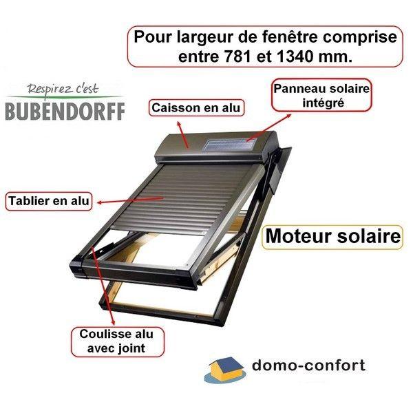 Bubendorff Kit Volet Roulant Solaire Pr Velux Ou Roto De 781 A
