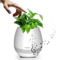 Musique Plante Fleur Domicile Blanc Pot Pour Bureau À De Étanche Smart D'oeuf Haut Coquille Décoration Parleur Avec Bluetooth Effleurement La XikPuTwOZl