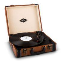 AUNA - Jerry Lee Platine vinyle look retro avec port USB numérisation -marron