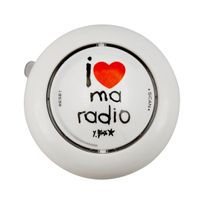Incidence Paris - Radio De Douche - I love my radio - Blanc