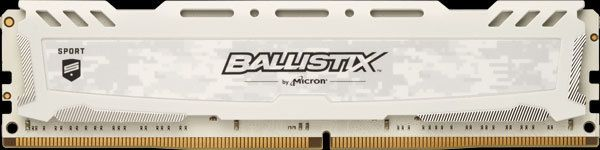 BALLISTIX - Sport LT DDR 4 UDIMM 8 Go DDR4 2666 MHz PC4-21300, CL16 DR x8 Unbuffered DIMM 288pin blanc