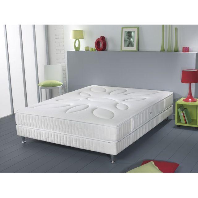 simmons matelas slipy 140x190 ressorts ensach s accueil mousse visco lastique achat vente. Black Bedroom Furniture Sets. Home Design Ideas