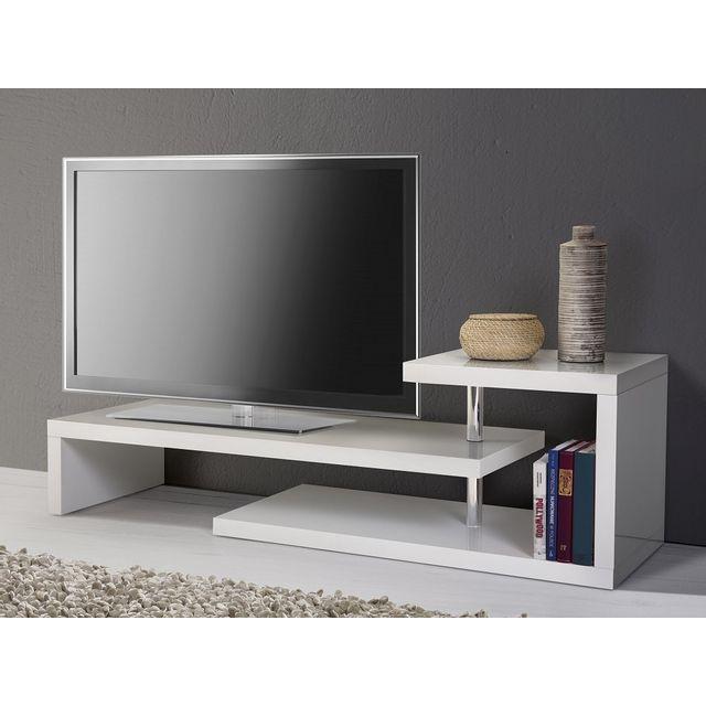 Beliani Meuble Tv - meuble de rangement - blanc - Concord