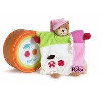Kaloo - Colors : Doudou ourson marionnette cerise