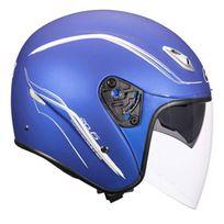 Givi - casque jet 20.6 en fibre moto scooter Bleu Mat Xl
