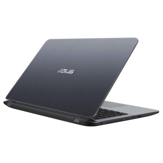 """ASUS X407MA-EB129T - Gris Ecran 14"""" Full HD (dalle mate) Nano Edge - Epaisseur de 21,9 mm - Poids de 1,55 Kg - Clavier chiclet AZERTY - HDMI - USB 3.0 - USB 2.0"""