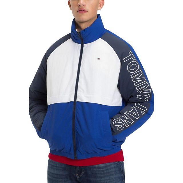 Blouson anorak bleu, blanc et rouge Tommy Hilfiger Vintage