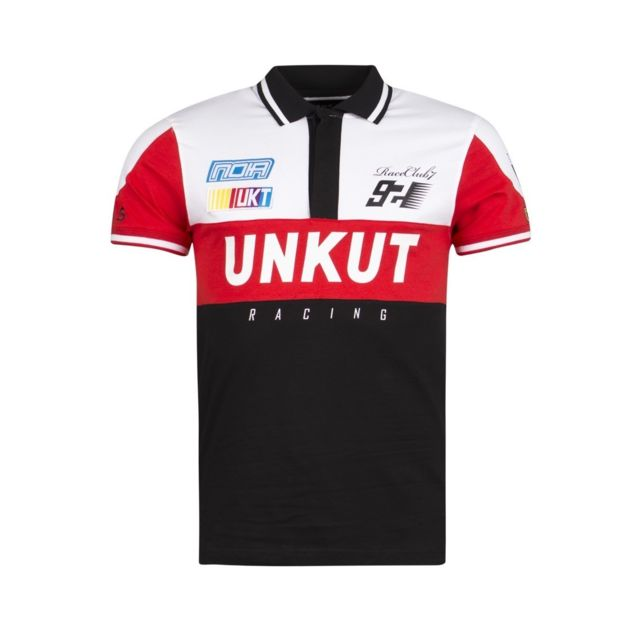 e3c73a82e2429 Unkut - Polo Sprint noir - pas cher Achat   Vente Polo homme - RueDuCommerce