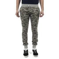 Sweet pants - Pantalons terry print slim vert M