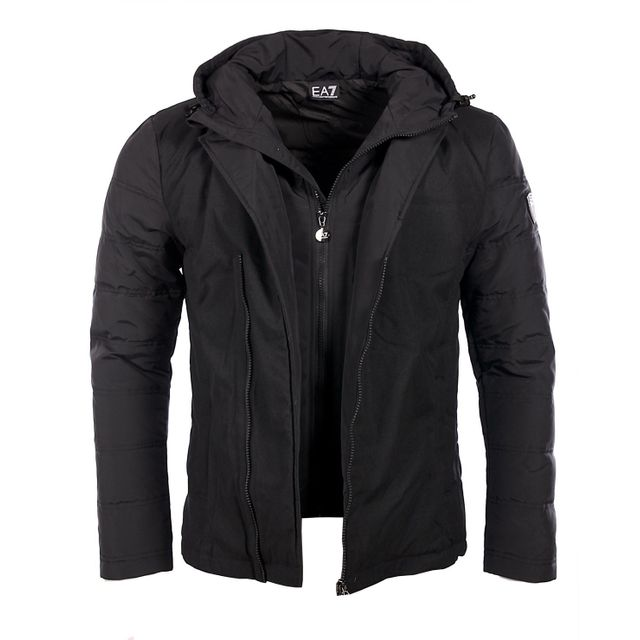 Armani - Ea7 - Armani Premium - Doudoune veste habillée noire homme 6XPB21 2a02b41b155