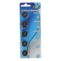 Hq - Lot de 5 piles lithium Cr2032