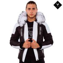 Ventiuno - Star21 Veste Doudoune Bi-matière fourrure véritable blanc taille Max - cuir d'agneau-doudoune , fourrure, veste, doudoune, cuir, homme