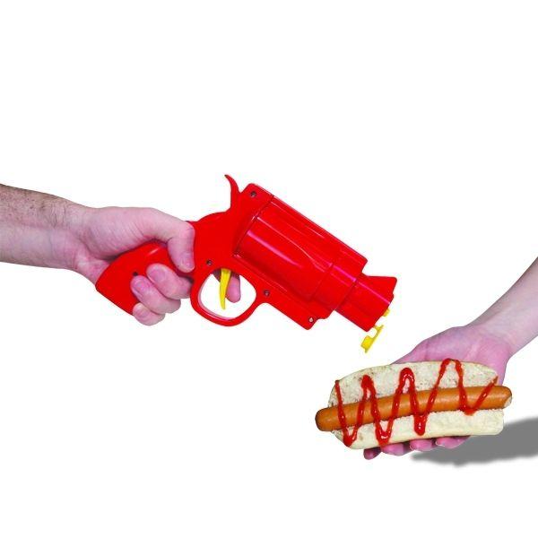 Totalcadeau Pistolet distributeur de sauce ketchup, mayonnaise, moutarde
