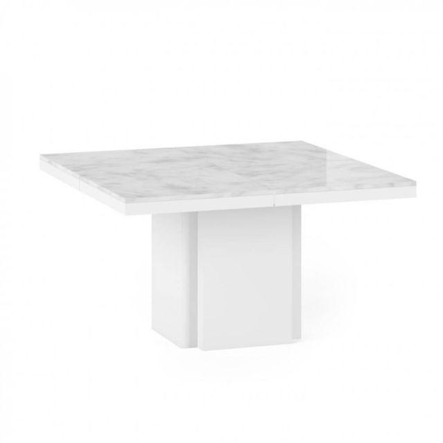 Inside 75 Table repas en marbre Wido blanc