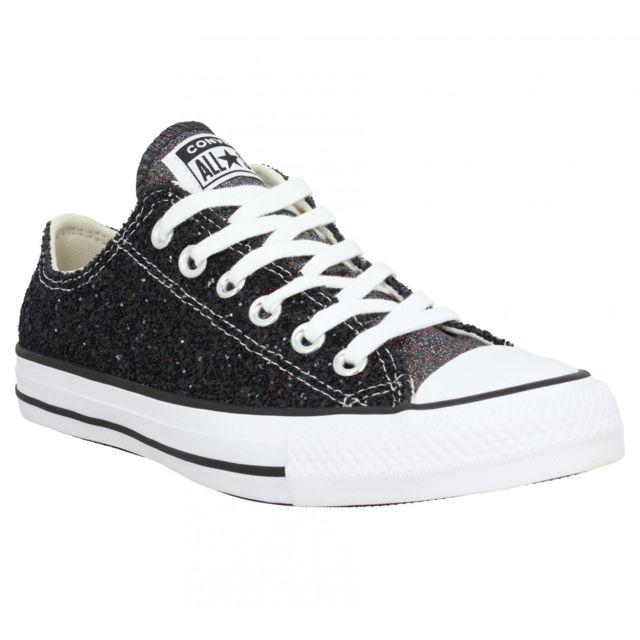 Converse - Chuck Taylor All Star glitter Femme-38-Noir - pas ...
