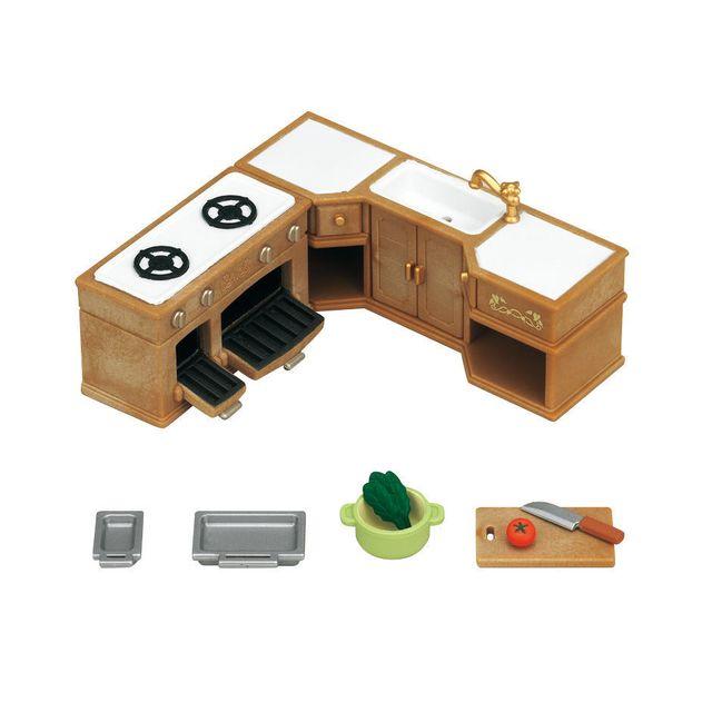 sylvanian families cuisine am nag e 5222 pas cher achat vente mini poup es rueducommerce. Black Bedroom Furniture Sets. Home Design Ideas