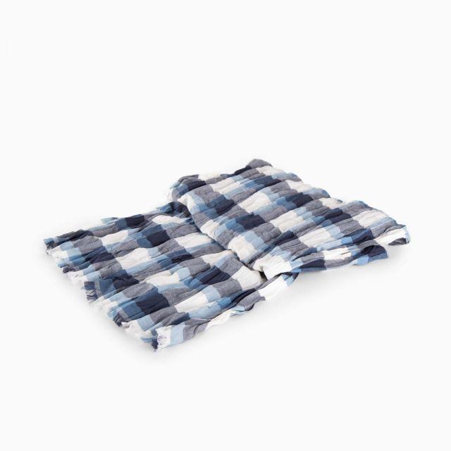 d20e84186db Azzaro - Echarpe chèche bleue à carreaux homme - pas cher Achat ...