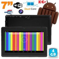 Yonis - Tablette tactile Android 4.4 KitKat 7 pouces Dual Core 4Go Noir