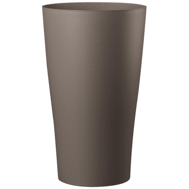 Deroma Pot De Fleur Haut Reversible En Polyethylene Taupe