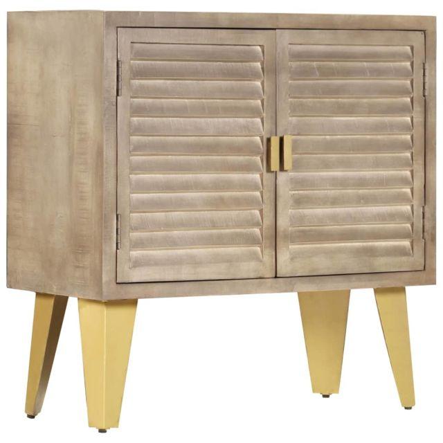 Moderne Armoires & meubles de rangement famille Saint-Marin Buffet 80x35x80 cm Bois solide de manguier et fonte