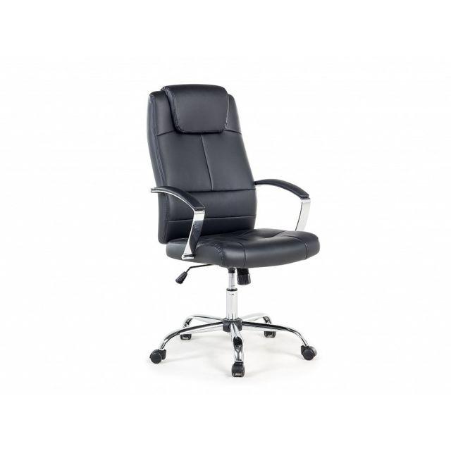 Beliani Chaise de bureau - Fauteuil simili-cuir noir - Winner