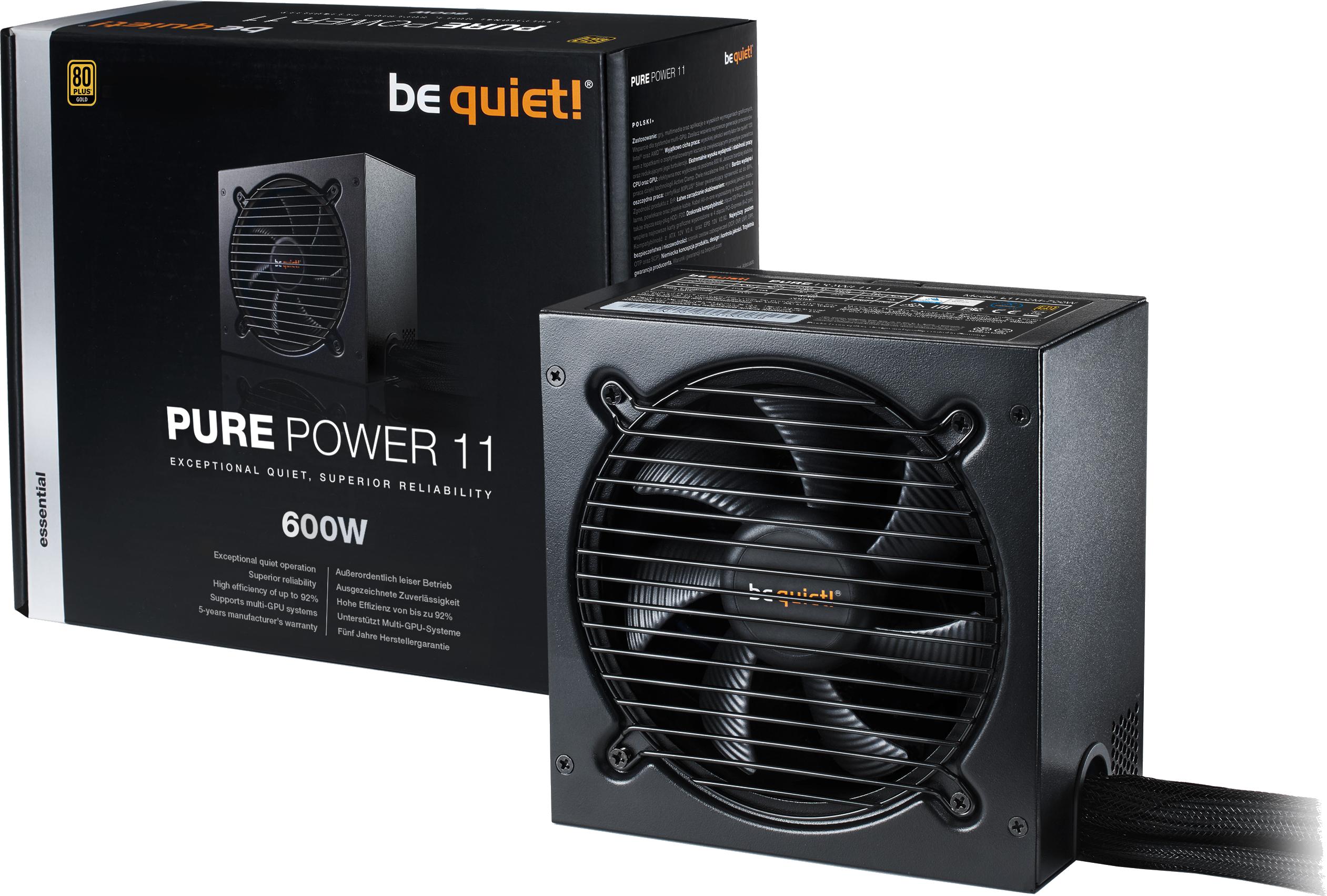 Bloc d'alimentation Straight Power 11 600W 80 Plus Gold Be Quiet