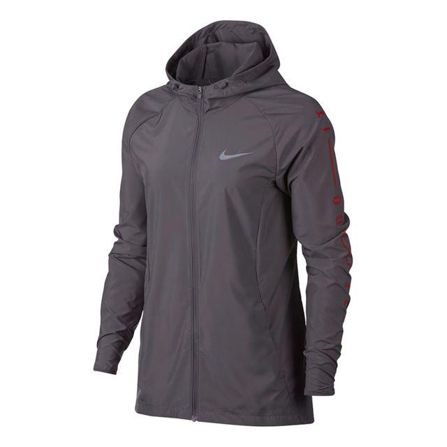 Nike Veste Essential Running gris femme pas cher Achat