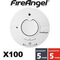 Fireangel - Lot de 100 détecteur de fumée Nf Autonomie 5 ans - Garantie 5 ans St625-FRT