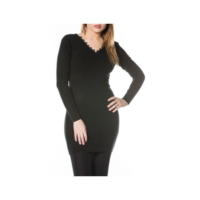 Princesse Boutique - Robe pull Noir dos nu à lacets Taille unique ... b7c3eea34d42