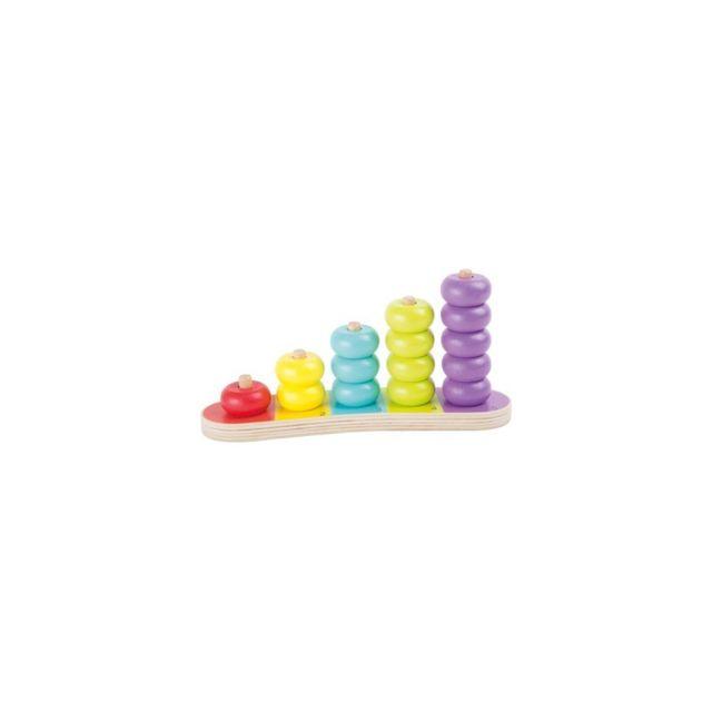 Small Foot Company Planche de calcul « Disques multicolores