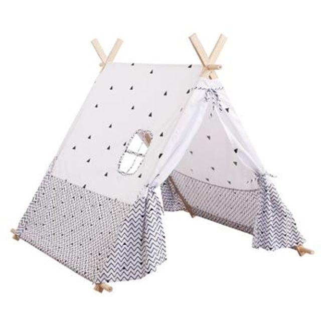 tente tipi pour enfant h107 cm noir et blanc pas. Black Bedroom Furniture Sets. Home Design Ideas