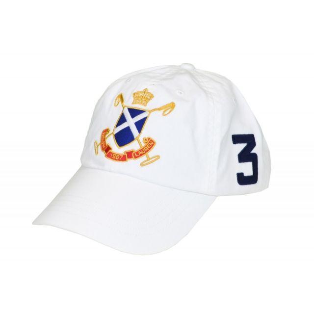 53de11b918cc Ralph Lauren - Casquette Blackwatch blanche pour homme - pas cher Achat   Vente  Casquettes, bonnets, chapeaux - RueDuCommerce