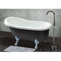 aqua baignoire ilot ovale monobloc oleron 170cm x 80cm pas cher achat vente baignoire. Black Bedroom Furniture Sets. Home Design Ideas
