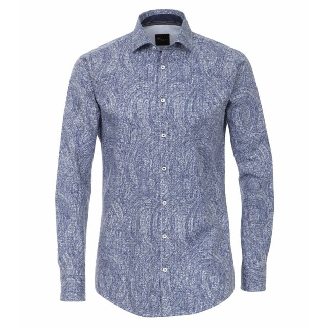 Venti Chemise bleu à motifs