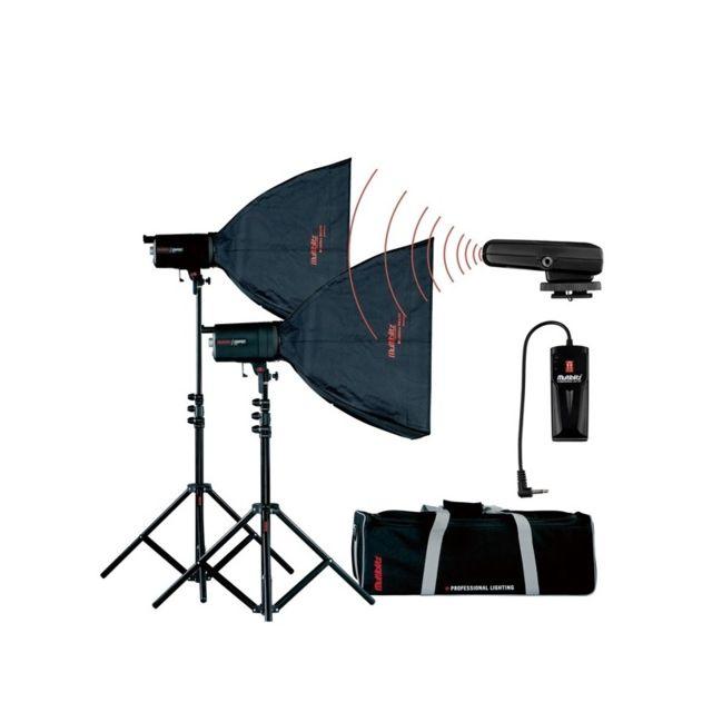 Multiblitz Kit Eclairage Studio 2 Flashs Compact Plus Mkii 2