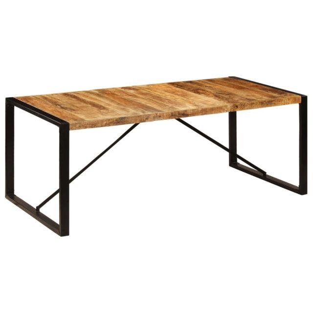 Inedit Tables selection Suva Table de salle à manger 200x100x75 cm Bois de manguier solide