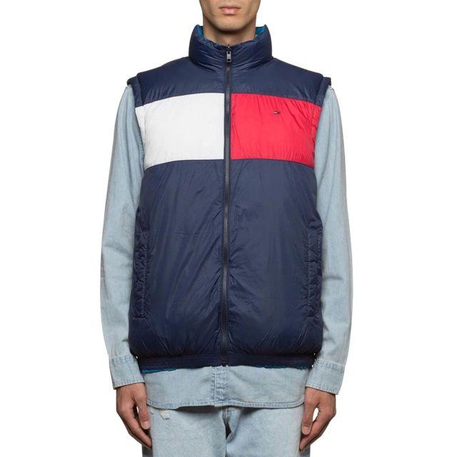 Tommy hilfiger - Gilet riversible Tommy Jeans - pas cher Achat   Vente  Doudoune homme - RueDuCommerce cb67d5806017