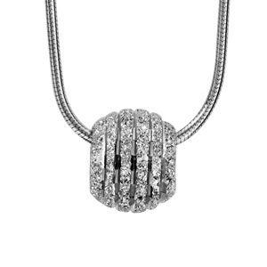 collier argent boule diamant