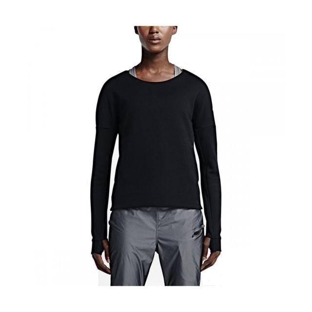 Nike - Sweat Nike Tech Fleece Crew - 685748-010. Couleur   Noir. Taille   XL b5d615c91367