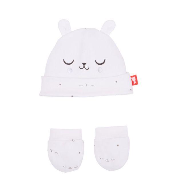 bf07d2b829be Petit Beguin - Bonnet + moufles anti-griffures bébé mixte Little Baby
